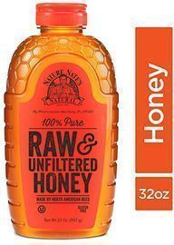 Nature Nates 100% Pure, Raw & Unfiltered Honey, 32oz