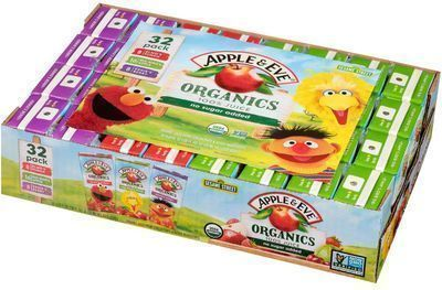 Apple & Eve 32 Count Sesame Street Organics Juice Boxes