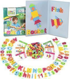 Magnetic Letters and Patterns Set |Educational Toy with 400 Foam Pieces + 38 Idea Cards