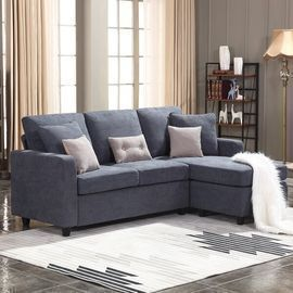 Sylvette 78.5 Reversible Sofa & Chaise w/ Ottoman