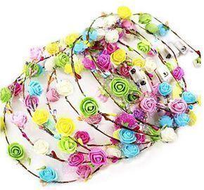 LED Headband Flower Crowns - 12 pk