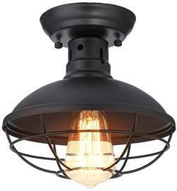 KingSo Industrial Metal Cage Ceiling Light