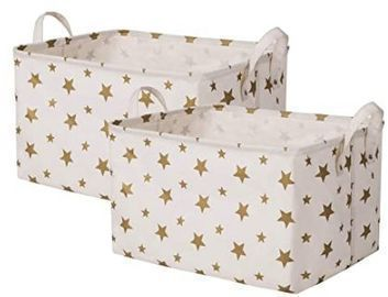 2-Pack of Canvas Storage Baskets