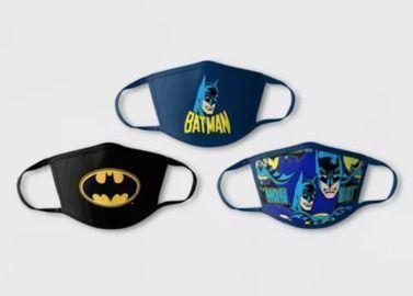 Kids' Batman Face Mask 3-Pack