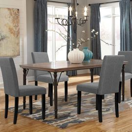 Walnew Set of 4 Modern Upholstered Dining Chairs