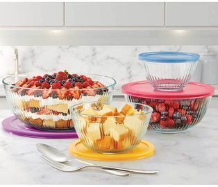 Pyrex 8-piece Glass Sculpted Mixing Bowls