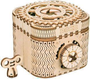 ROBOTIME 3D Wooden Treasure Box Puzzle