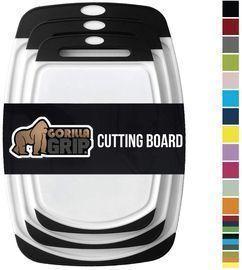 Gorilla Grip Original Oversized Cutting Board, 3pc Black