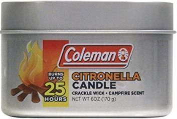 Coleman Scented Citronella Candle with Wooden Crackle Wick