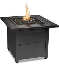 Endless Summer LP Gas Outdoor Fire Table with Steel Slat Mantel