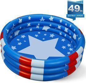 Inflatable Kiddie Pool, 49 x 12