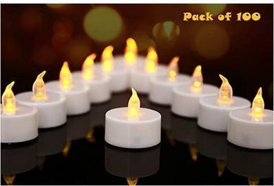 LED Tealight Candles 100-pack