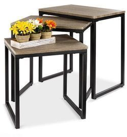3-Piece Modern Stackable Nesting Coffee Table Set