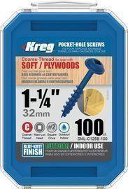 Kreg 1 1/4 Blue-Kote WR Pocket Screws 100-Pack