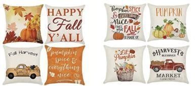 Fall 18x18 Pillow Covers