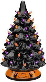 Pre Lit 15 Ceramic Halloween Tree