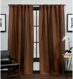 MoDRN Industrial Basketweave Curtain Pair