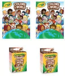 Crayola Colors of the World Coloring Book & Crayons x 2