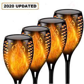 4 Pack Solar Outdoor Torch Lights