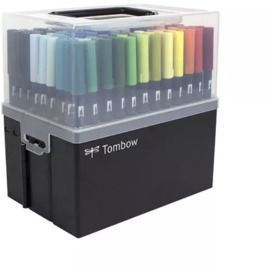 Tombow 108 Piece Dual Brush Pen Set in Marker Case