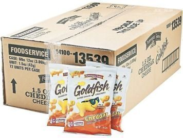72 Pack Pepperidge Farm Goldfish Crackers, Cheddar, 1.5 Oz
