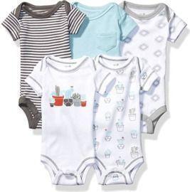 5pk Unisex Baby Organic Cotton Bodysuits