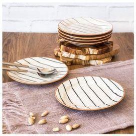 Sabin Striped Salad Plates - Set of 6