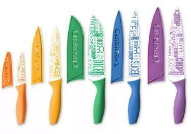 Cuisinart 10-Pc. Ceramic-Coated Printed Cutlery Set