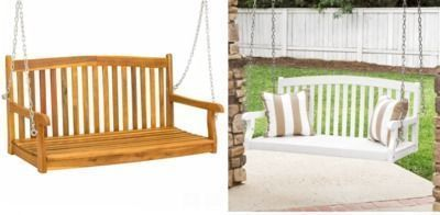 Wooden Porch Swing w/ Hanging Chains