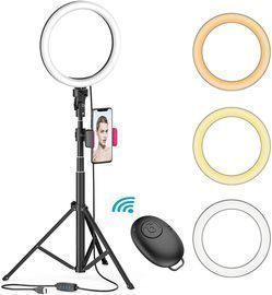 8 LED Selfie Ring Light w/ Tripod Stand