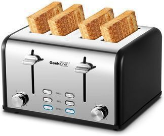 Geek Chef 4-Slice Extra Wide Slot Toaster