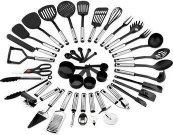 39pc Stainless Steel and Nylon Cooking Utensil Set