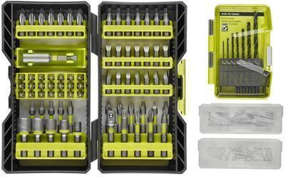 Ryobi 142pc Drill and Impact Rated Drive Kit