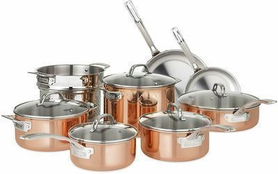 Viking Culinary 13pc Copper Stainless Steel Cookware Set