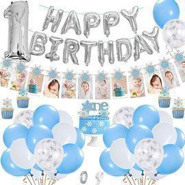 1st Snowflake Birthday Balloon Decorations