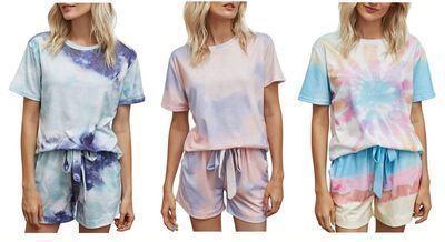 Women's Tie Dye PJ Set