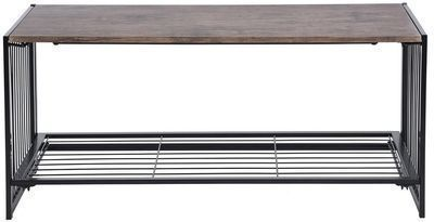 Line Zen 18 in. Walnut Wooden Folding Coffee Table