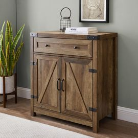 30 Farmhouse Barn Door Accent Cabinet by Welwick Designs