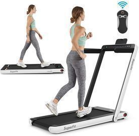 GoPlus 2-in-1 Folding Treadmill