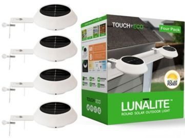 Touch of Eco Lunalite Round Solar Gutter/Fence Light 4-Pack