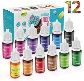 Food Coloring Liquid Set - 12pk