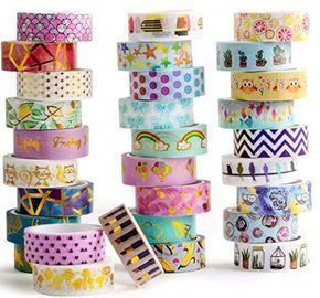 Gold Foil Washi Tape - 30 Rolls