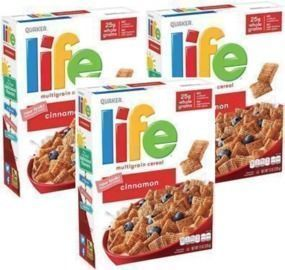 3 Pack - Life Breakfast Cereal, Cinnamon, 13oz Boxes