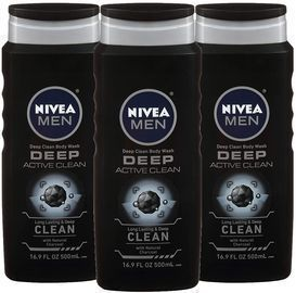 Nivea Men Deep Active Clean Body Wash 6-Pack