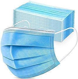 3 Layer Disposable Face Masks, 50pc