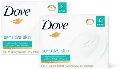 16-Count 3.75oz. Dove Beauty Bar (Sensitive Skin)