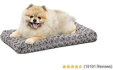 Deluxe Super Plush Pet Bed - Gray