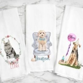 Personalized Pet Tea Towels