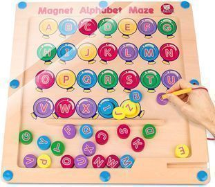 Montessori Magnetic Alphabet Maze Board