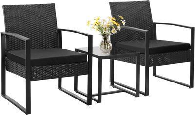 Walnew 3pc Bistro Chairs + Table